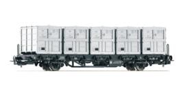 H0 | Piko 54428 - DR, Containerdraagwagen Btmm
