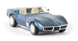 H0   Brekina 19971 - Corvette C3 Cabrio, blue-metallic