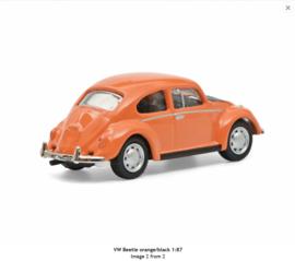 H0 | Schuco 26628 - VW Beetle orange/black