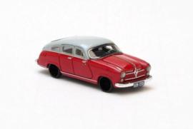 H0 | NEO 87235 - 1952 Borgward Hansa 2400 - Grijs/Rood