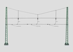 H0 | Märklin 74131 - Dwarsverbinding voor 3 sporen (1 stuks)