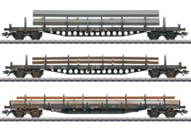 H0 | Märklin 47145 - DB AG, Stake Car Set.