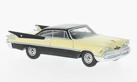 H0 | BoS-Models 87056 - Dodge Custom Royal Lancer Coupe, beige/zwart, 1959