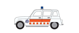 "H0 | Herpa 942294 - Renault R4 ""politie"""