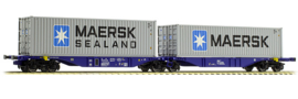 H0 | ACME 40274 - RRL, Containerwagen Sggmrss '90