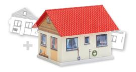 H0 | Faller 150190 - BASIC Single family house, incl. 1 paintable model