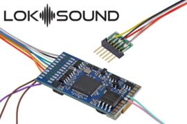"H0 | Esu 58416 - LokSound 5 DCC/MM/SX/M4 ""Leerdecoder"", 6-pin NEM651, met luidspreker 11 x 15mm, 0, H0"