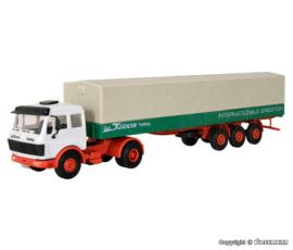 H0 | Kibri 14644 - MB 1632S with WACKENHUT tarpaulin semi-trailer