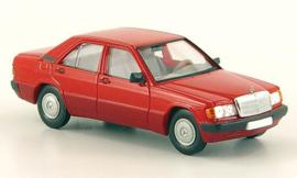H0 | Brekina Starmada 13201 -Mercedes 190E (W201), rood, 1988