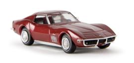 H0   Brekina 19965 - Corvette C3, ruby red metallic.