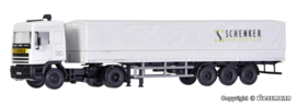 H0 | Kibri 14638 - DAF 2-axle truck with SCHENKER tarpaulin semi-trailer
