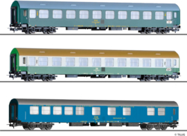 "H0   Tillig 501765 - 3-delige personenwagenset ""Vindobona deel 3"", DR / CSD, tijdperk IV"