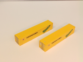 H0 | Harlaar Modeltreinen - Containerships Magnum set - 2 keer 45'