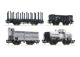 H0 | Roco 76077 -4 piece set: Goods wagons