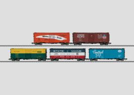 H0 | Märklin 45653 -Set met 5 box cars.