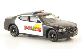 H0 | Ricko 38268 - Dodge Charger, zwart/wit, Police, (USA)