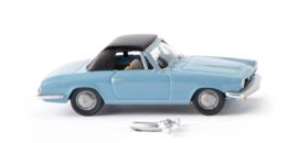 H0   Wiking 018749 - BMW 1600 GT Cabrio, lichtblauw (1)