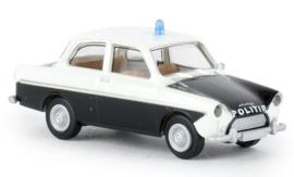 H0 | Brekina 27720 - DAF 600, wit/zwart, Politie, 1960 (NL)