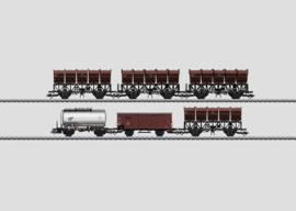 H0 | Märklin 46351 - DB, Set 2 wagens met kiepbakken.