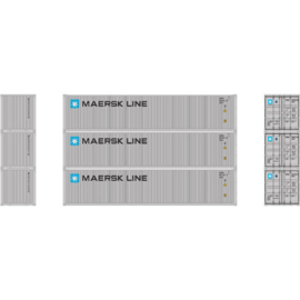 H0 | Athearn ATH27159 - 40' Low-Cube Container, Maersk (3)