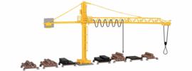 H0 | Kibri 39817 - Crane with timber yard