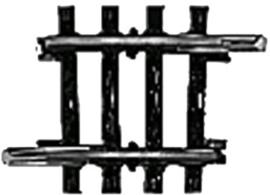 H0 | Märklin 2235 - Gebogen railstuk (K-rail)