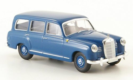 H0 | Brekina Starmada 13451 - Mercedes 180 Kombi (W120), blue, 1955,without cardboard slipcase