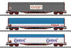 "H0 | Märklin 47118 - SNCF, Schuifzeilwagenset ""Mineraalwatertransport"""
