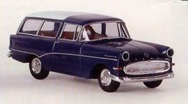 H0   Brekina 20045 - Opel Rekord P1 Caravan, blue/white