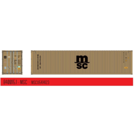 """H0   PT Trains 840015.1 -40ft. Highcube Container """"MSC"""" Eco"""