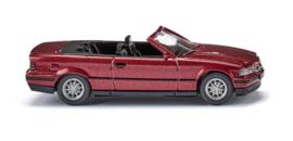 H0   Wiking 019401 - BMW 325i Cabrio - wine-red metallic (1)