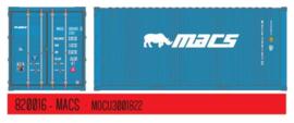 H0 | PT Trains 820016 - Container 20' DV MACS