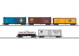 H0 | Märklin 45657 - Set US-goederenwagens
