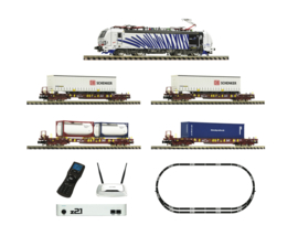 N | Fleischmann 931891 - 931891 - FLEISCHMANN Premium – Digital Starter Set z21: Electric locomotive class 193 and goods train (DC sound)