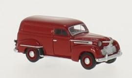 H0 | BoS-Models 87141 - Opel Olympia bestelwagen, donkerrood, 1951