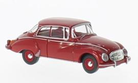 H0 | Brekina 28018 - Auto Union 1000 S Limousine, donkerrood (10)