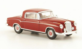 H0 | Brekina Starmada 13502 - Mercedes 220 S Coupe (W180 II), rood, zonder omkarton