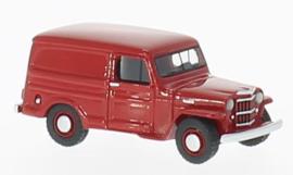 H0 | BoS-Models 87013 - Jeep Willys Panel Van, rood, 1954