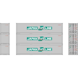 H0 | Athearn ATH 27163 - RTR 40' Smooth Side Container, Japan Line (3)
