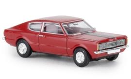 H0   Brekina 19208 - Ford Taunus Coupe GT, red, 1972, black bonnet.