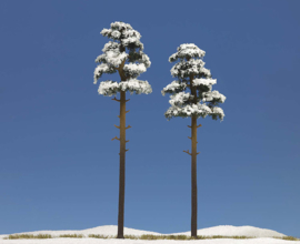 H0 | Busch 6156 - 2 Snow Covered Pines