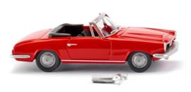 H0   Wiking 018798 - BMW 1600 GT Cabrio, rood (1)