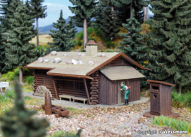 H0   Vollmer 43708 - Hunting cabin with well and outside toilet
