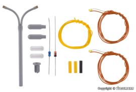 N | Viessmann 6623 - Dubbele booglamp, witte LED, kit