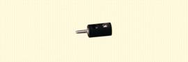 Brawa 3058 - stekker Ø 2.5mm zwart (10 stuks)