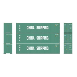 H0 | Athearn ATH29178 - Container 3 Pack 40' – China Shipping