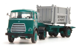 H0 | Artitec 487.011.01 - DAF tractor with unloader, open loading box, cabin '59, 'NMBS'