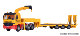 H0 | Kibri 13579 - MB with crane and low loader