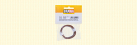 Brawa 32404 - Flexibel Decoderdraad, 0,05 mm², bruin