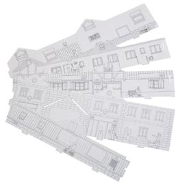 H0 | Faller 150300 - BASIC Paintable model set 1, 5 pieces